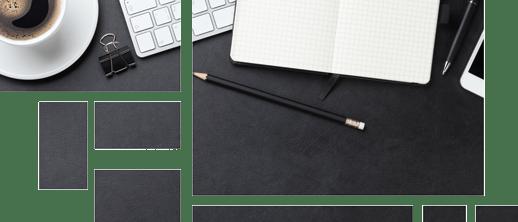 Tisch mit Kaffee, Noitzbuch und iPhone - Storytelling Bloggen - Tile-Design