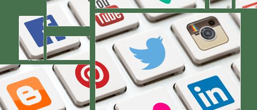 Social-Communication - Storytelling auf Soziale Medien-Tile-Design
