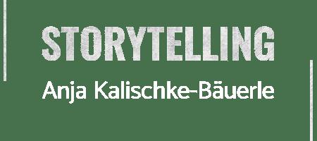 Anja Kalischke-Bäuerle - Logo - Storytelling-News - White