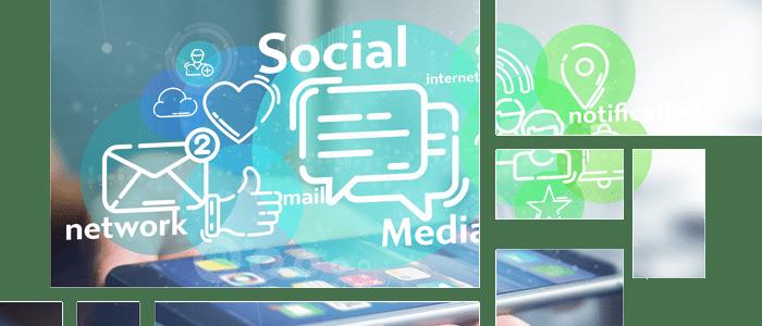 Handy mit Social-Media Icons - Workshop für LinkedIn -Business-Netzwerk der Stunde